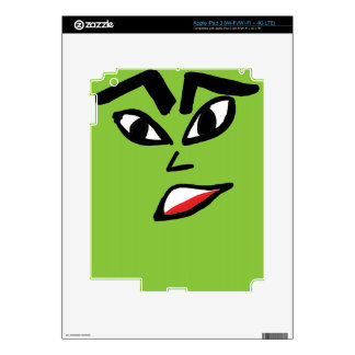 witch green face iPad 3 decal