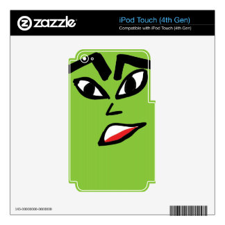 witch green face iPod touch 4G skin
