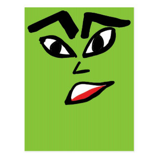 witch green face postcard