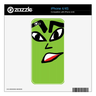 witch green face skin for iPhone 4