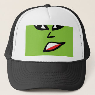 witch green face trucker hat
