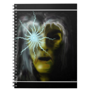Witch (green) spiral note book