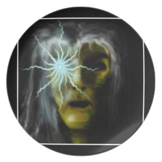 Witch (green) party plate