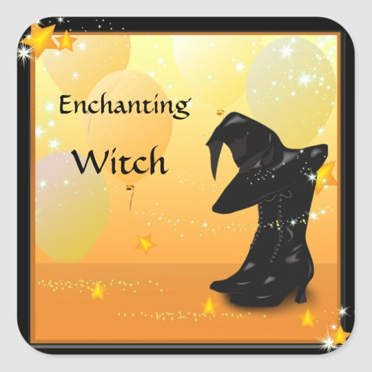 Witch Halloween Enchanting Witch Custom Stickers
