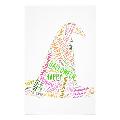 Witch Halloween Hat Stationery