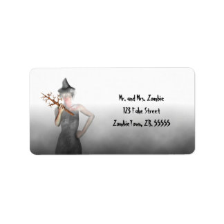 Witch - Halloween Labels