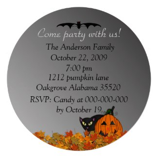 Witch Halloween Party Invitations