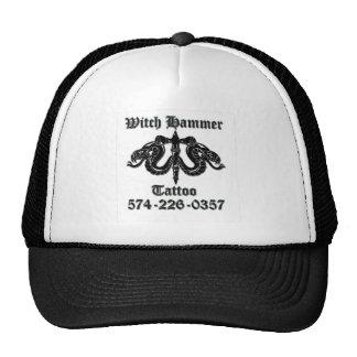 witch hammer tattoo b/b t trucker hat