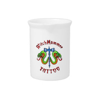 Witch Hammer Tattoo Products Drink Pitcher