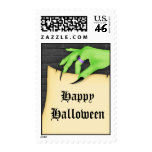Witch Hand Halloween Postage Stamp