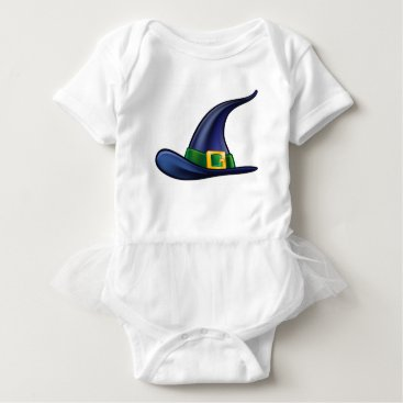 Halloween Themed Witch Hat Halloween Illustration Baby Bodysuit