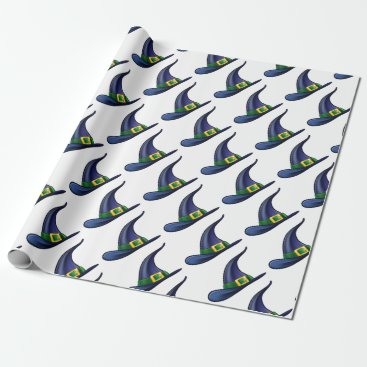 Halloween Themed Witch Hat Halloween Illustration Wrapping Paper