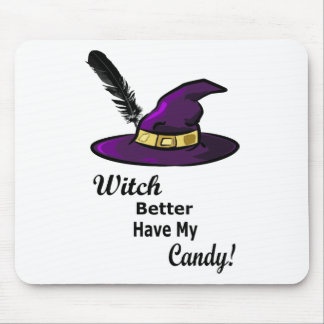witch hat mouse pad