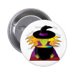 Witch Hat Pod Pinback Button