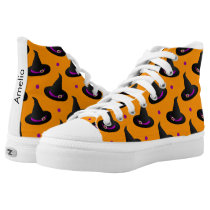 witch hats halloween pattern High-Top sneakers