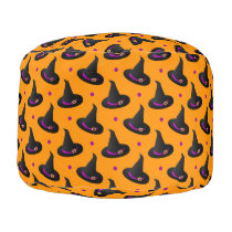 witch hats halloween pattern pouf