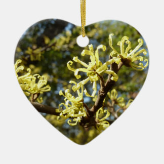Witch Hazel Flowers Ceramic Ornament