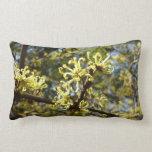 Witch Hazel Flowers Lumbar Pillow
