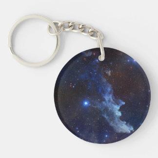 Witch Head Nebula Blue Space Double-Sided Round Acrylic Keychain