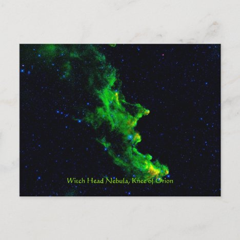 Witch Head Nebula deep space astronomy image Postcard