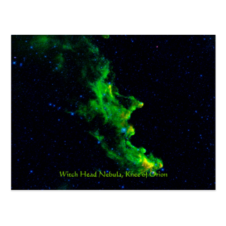 Witch Head Nebula deep space astronomy image Postcard