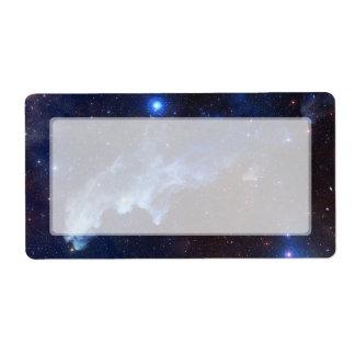 Witch Head Nebula NASA Space Label