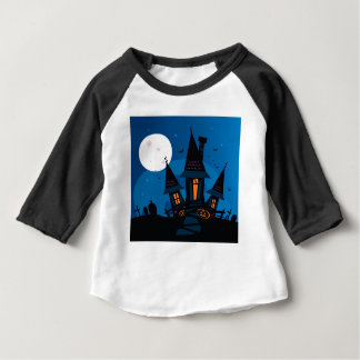Witch house with Pumpkin heads / HALLOWEEN THEME Baby T-Shirt