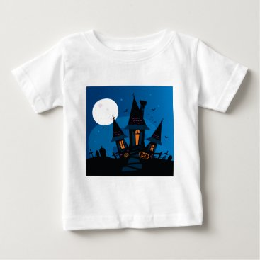 Halloween Themed Witch house with Pumpkin heads / HALLOWEEN THEME Baby T-Shirt