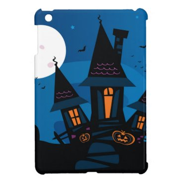 Halloween Themed Witch house with Pumpkin heads / HALLOWEEN THEME Case For The iPad Mini