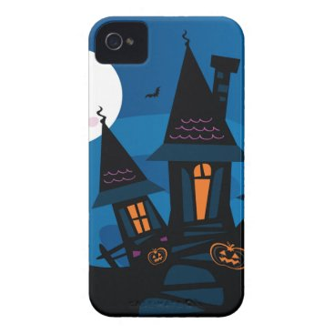 Halloween Themed Witch house with Pumpkin heads / HALLOWEEN THEME iPhone 4 Cover