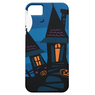 Halloween Themed Witch house with Pumpkin heads / HALLOWEEN THEME iPhone SE/5/5s Case
