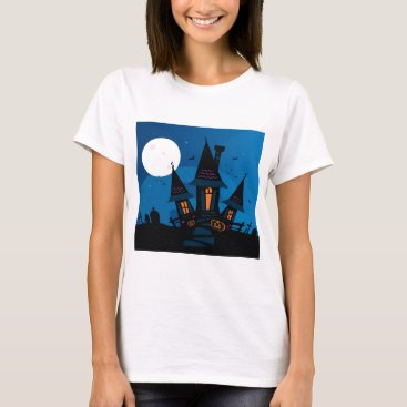 Halloween Themed Witch house with Pumpkin heads / HALLOWEEN THEME T-Shirt