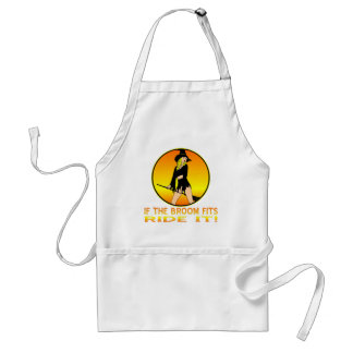 Witch If The Broom Fits Ride It Adult Apron