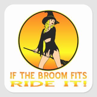 Witch If The Broom Fits Ride It Stickers