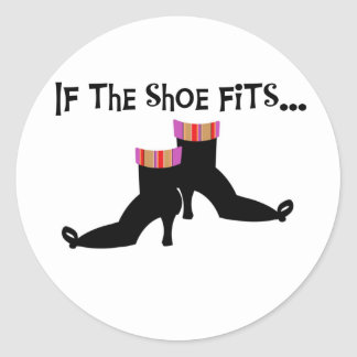 Witch If the Shoe Fits Sticker