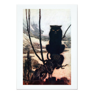 Witch in Cat Form Card