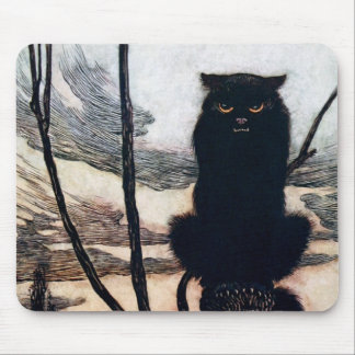 Witch in Cat Form Mouse Pad