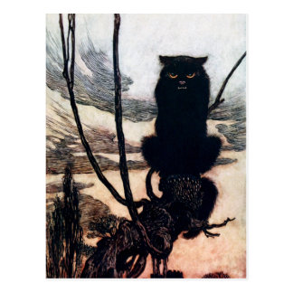 Witch in Cat Form Postcard
