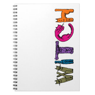 """""""Witch"""" in Cat Letters Note Book"""