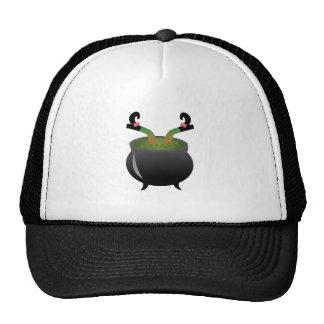 Witch In Cauldron Trucker Hat