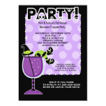 "Witch in Cocktail Halloween Party 5x7 Invitation 5"" X 7"" Invitation Card"