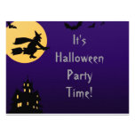"""""""Witch In Flight at Midnight"""" - Halloween Party Personalized Invitation"""