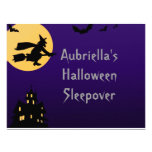 """""""Witch In Flight at Midnight"""" - (Personalized Slee Announcement"""
