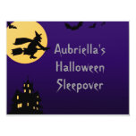 """""""Witch In Flight at Midnight"""" - (Personalized Slee 4.25x5.5 Paper Invitation Card"""