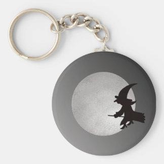 Witch In Flight Keychain