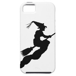 Witch in Flight on Broom Silhouette iPhone SE/5/5s Case