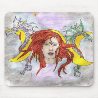 Witch in Moon Phaze Mouse Pad