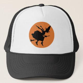 Witch in moonlight trucker hat