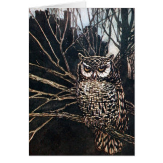 Witch in Owl Form Greeting Card