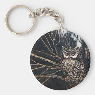 Witch in Owl Form Keychain